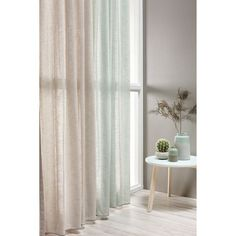 Transparent curtains in different shades Modern Curtains, Colorful Curtains, Curtains With Blinds, Sage Bedroom, Home And Living, Living Room, Interior Windows, Loft Style, Interior Styling