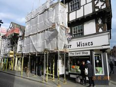 Scaffolding on Leominster High Street