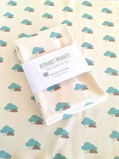 Organic Cotton Jersey Swaddle Blanket..cloud print