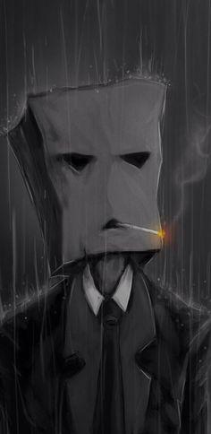 Smoking with a paper bag in the rain Funny mobile wallpaper Graffiti Wallpaper, Dark Wallpaper, Mobile Wallpaper, Arte Obscura, Dope Wallpapers, Dark Art Drawings, Creepy Art, Dope Art, Dark Fantasy Art