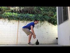 How to Kettlebell Deadlift: Kettlebell Basics with Hip Hinge - YouTube