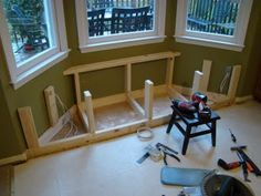 angled window seat in the making -  looks like similar size to what mine would be
