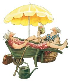 Bildergebnis für inge look Old Lady Humor, Best Friends Forever, Whimsical Art, Old Women, Getting Old, Illustrators, Cute Pictures, Cool Art, Illustration Art