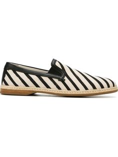 DOLCE & GABBANA Striped Boat Shoes. #dolcegabbana #shoes #shoes
