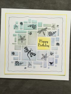 Barbara Gray, Birthday Cards, Happy Birthday, Art Cards, Clarity, Stamping, Card Ideas, Stencils, Masks