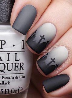 halloween-nail-art - 45 Cool Halloween Nail Art Ideas #nailart
