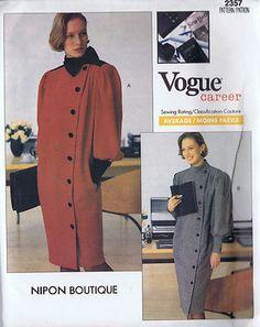 Dress One Piece Vogue Nipon Sewing Pattern 2357 Size 8 Bust 31 5 Hip 33 5 Uncut | eBay