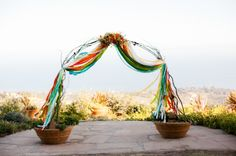 Festive Rancho del Cielo Wedding: Would fit my theme with brighter colors.