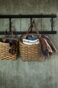 Hanging baskets for storage