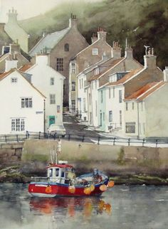 The perspectives alone are mind boggling, but then the colours to create the atmosphere and set the boat alight. Beautiful. Church Street by Bill Hook
