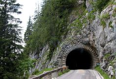 One of the many tunnels build while making the road up to Eagles Nest, Hitler's place in Austria