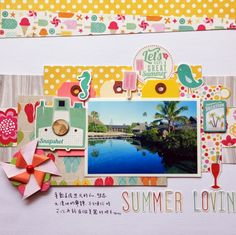 Summer Lov'in - Scrapbook.com - Made with Echo Park supplies.
