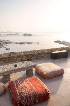 Sunset at 180 Sunset Bar in Mykonos   The Republic of Rose   #Mykonos #Greece #Sunset