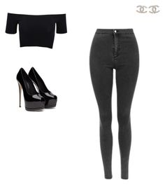 """""""Untitled #9"""" by emma-bryan-1 on Polyvore featuring American Apparel, Chanel, women's clothing, women, female, woman, misses and juniors"""
