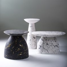 Moss & Lam W1 tables - marble dust & resin