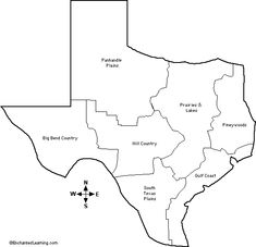 Outline Map Natural Features Of Texas Th Grade Texas History - Texas map outline with cities