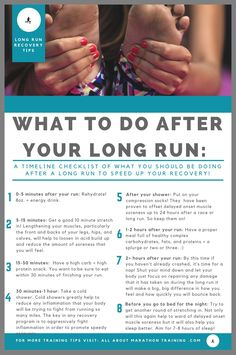 Long Distance Running Recovery Plan An Actionable Timeline! is part of fitness This is your long distance running recovery plan set out in timeline form! What and when you start the recovery process - Demi Marathon, Half Marathon Recovery, Chicago Marathon, Laufen Im Winter, Marathon Laufen, Half Marathon Training Plan, Half Marathon Tips, Half Marathon Quotes, Beginning Running