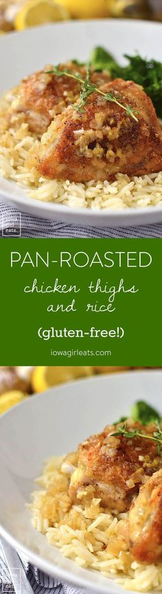 Pan-Roasted Chicken Thighs and Rice | Iowa Girl Eats | Bloglovin'