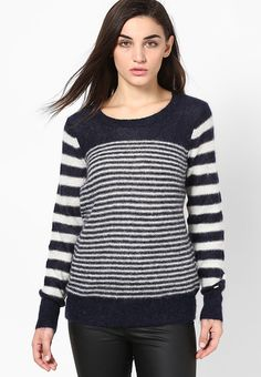bcfe0fa94e97 Buy Tommy Hilfiger Blue Sweater Online - 4188982 - Jabong