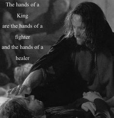 Aragorn is the definition of a king. He doesn't lead hid army to their deaths by following behind instead he is the first to face the battle the first to risk his life and the first to die if need be.