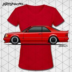 Mercedes W124 300E Red AMG Widebody Coupe Shirts – #Mercedes #AMG #CarShirts +++ artsmoto.com