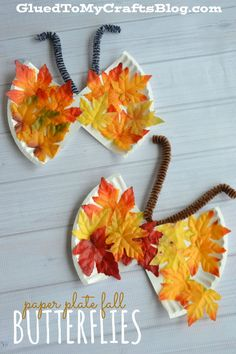 butterfly-leaf-kid-craft-cover - Glued To My Crafts