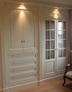 closet idea. I love how this utilizes from ceiling to floor. all the individual drawers and doors are fab. Must do this on my closet wall.