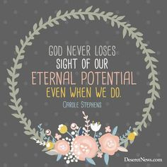 Sister Carole M. Stephens | 84 inspiring quotes from October 2015 LDS general conference | Deseret News Gospel Quotes, Mormon Quotes, Lds Quotes, Religious Quotes, Uplifting Quotes, Inspiring Quotes, Qoutes, Inspiring Things, Awesome Quotes