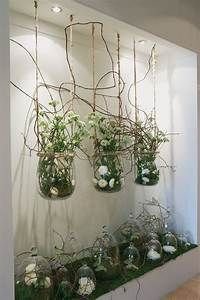 interesting: simple white flowers under bell jars... | Wow ...