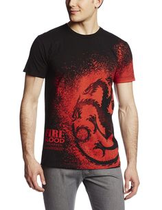 687304b79 Amazon.com  HBO S Game of Thrones Men s Fire and Blood Splatter T-Shirt