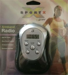 GPX Digital AM FM Radio with Sport Armband and Earbuds New Black and Silver New #Jensen