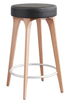 Maxima Stool  Contemporary, Leather, Upholstery  Fabric, Wood, Stool by Sossego
