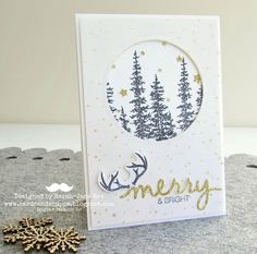 "Sarah-Jane Rae cardsandacuppa: Stampin' Up! UK Order Online 24/7: ""Wonderland"" Christmas Card using NEW Stampin' Up! Autumn/Winter catalogue products."