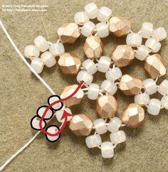 Beaded Snowflake Pattern Using Hexagon Angle Weave #Seed #Bead #Tutorials