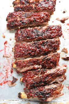 Raspberry Chipotle BBQ Ribs Recipe | foodiecrush.com