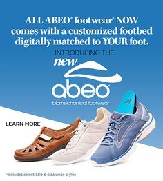 Introducing the New ABEO Biomechanical footwear!