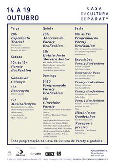 Fique por dentro do que acontece na Casa Da Cultura De Paraty  essa semana.  #CasaDaCulturaParaty #exposição #arte #cultura #turismo #música #fotografia #Paraty #PousadaDoCareca