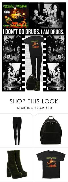 """Marilyn Manson (band)"" by irresistible-livingdeadgirl ❤ liked on Polyvore featuring STELLA McCARTNEY, Miu Miu, GREEN, emo, StellaMcCartney, miumiu and marilynmanson"