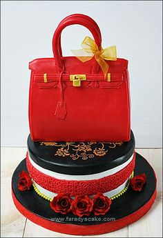 Posts about Bag Cake written by Zaidinil Khusna (Dina) Shoe Box Cake, Shoe Cakes, Cupcake Cakes, Unique Cakes, Creative Cakes, Handbag Cakes, Purse Cakes, 40th Birthday Cakes, Happy Birthday