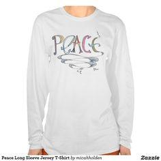 Peace Long Sleeve Jersey T-Shirt
