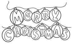 Merry Christmas Printable Coloring Sheet | 24 New Coloring Pages for 2012 - Click Here for Page 2