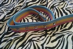 "Spring Beach Hippie Kawaii Gypsy Colored Striped Belt 30"" Waist #NEW #BUCKLE"