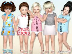 Summer set for toddlers by CherryBerrySim - Sims 3 Downloads CC Caboodle