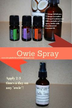 Deep in the Heart of Oil: Got an owie? How to treat cuts and scrapes with doTERR Essential Oil Spray, Essential Oils For Kids, Young Living Essential Oils, Essential Oil Diffuser, Essential Oil Blends, Fractionated Coconut Oil, Young Living Oils, Doterra Essential Oils, Doterra Blends
