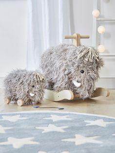 woolly mammoth rocker - woolly mammoth - scandi children's toys - scandi design - star rug - children's rug - nursery rug - grey and white rug - nursery ideas - scandi nursery - nordic house - go to your room