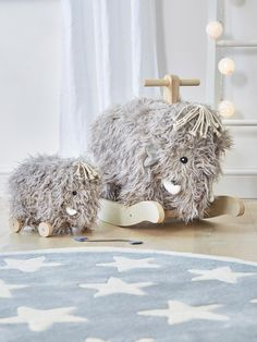 woolly mammoth rocker - woolly mammoth - scandi children's toys - scandi design - star rug - children's rug - nursery rug - grey and white rug - nursery ideas - scandi nursery - nordic house - go to your room
