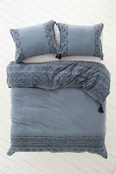 Magical Thinking Esrin Block Print Flannel Duvet Cover - Urban Outfitters