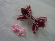 I love the look of this bow. It's not your typical bow. Itlooks very refined with the intricacies done in satin. This bow would make a beautiful hair clip.    Materials   satin ribbon thread...