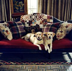 """Ralph Lauren.......Mario Buatta once remarked, """"If you want the English Country House look, get some dogs."""""""