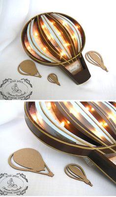 Vintage Nightlight | Винтажный ночник «Воздушный шар» — Купить, заказать, ночник, светильник, свет, дерево, воздушный шар